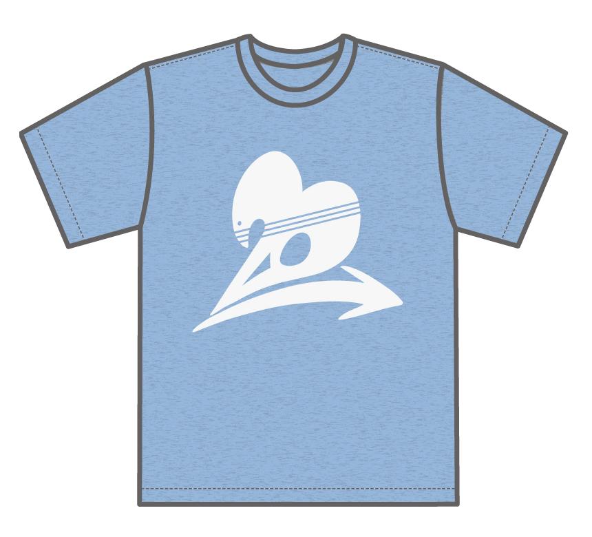 トゥエンティ・ゴー Tシャツ 空のブルー Front
