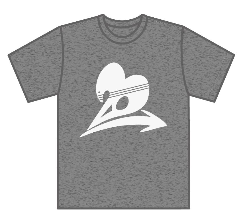 トゥエンティ・ゴー Tシャツ 冒険に立ち向かうグレー Front